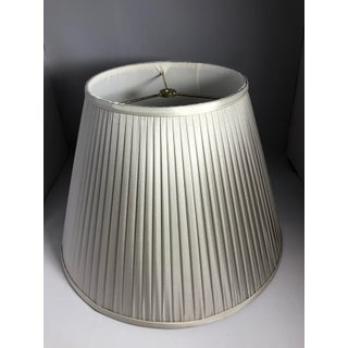 New Gray Silk Handsewn in Usa French Pleat Lampshade Preview