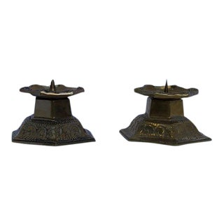 Gustavian Style Candle Holders - A Pair