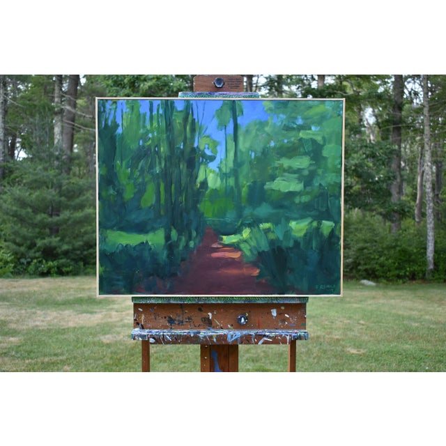 "Contemporary Stephen Remick ""A Walk in the Woods"" Contemporary Painting For Sale - Image 3 of 12"