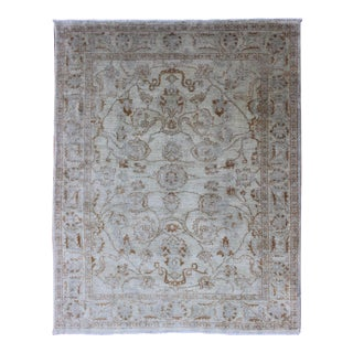 All-Over Mahal Design Vintage Rug in Ivory Background and Border For Sale