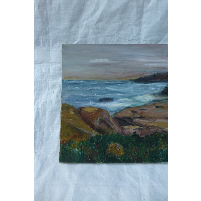 Mid-Century Modern George St. Pierre Ocean View Signed Painting For Sale - Image 3 of 7
