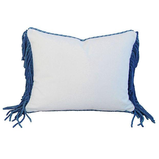 Designer Kravet Blue & White Chinoiserie Pillow - Image 5 of 5