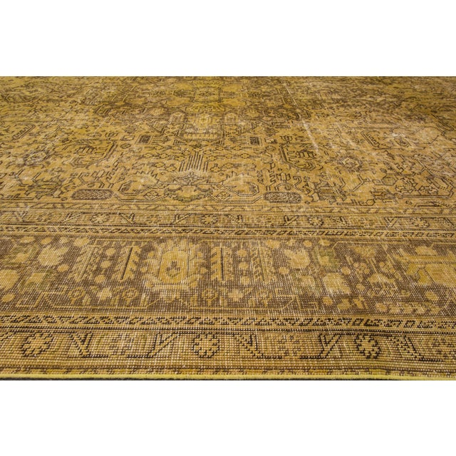 Apadana Yellow Over-Dyed Rug - 9′5″ × 12′8″ For Sale - Image 7 of 7