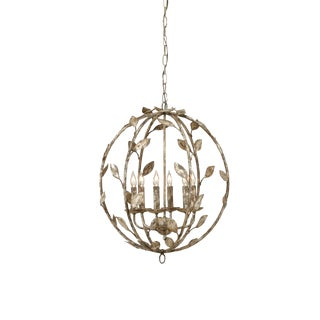 Chelsea House Inc Botanical Leaf Chandelier For Sale