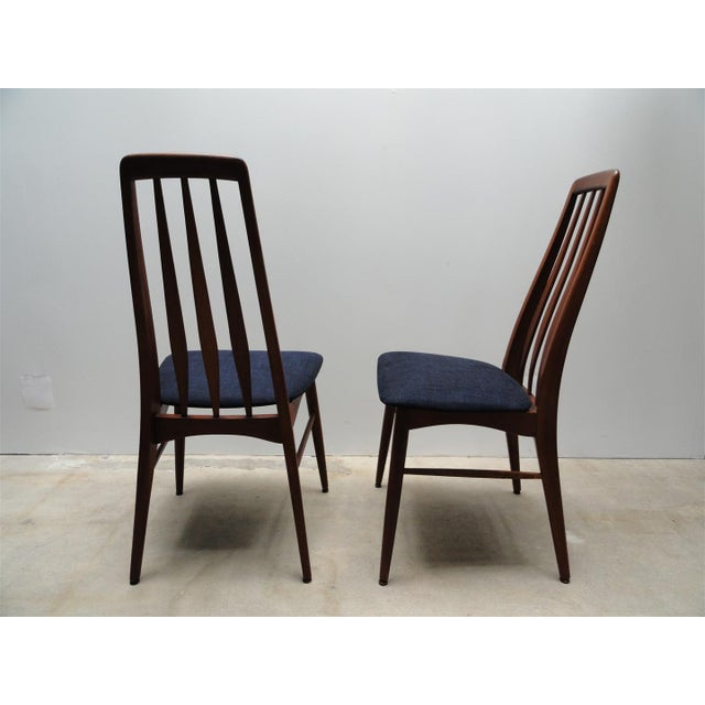 Danish Modern Eva Dining Chairs by Koefoeds Hornslet - Set of 4 - Image 4 of 10