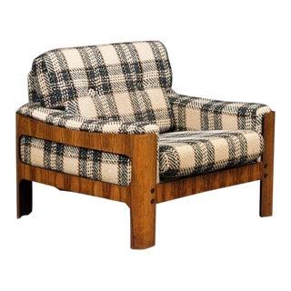 Danish Midcentury Cubistic Easy Chair in Rosewood Veneer by Komfort Mobler