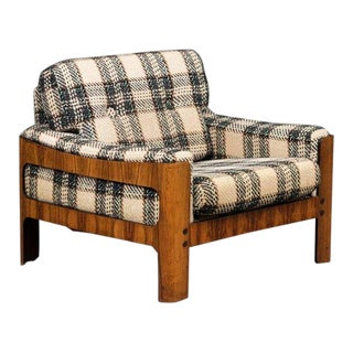 Danish Midcentury Cubistic Easy Chair in Rosewood Veneer by Komfort Mobler For Sale