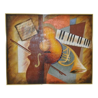 "Lee Reynolds Vintage ""Music"" Painting C.1960s For Sale"