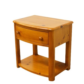 "Stanley Furniture French Country Solid Pine 24"" Nightstand / Side Table For Sale"