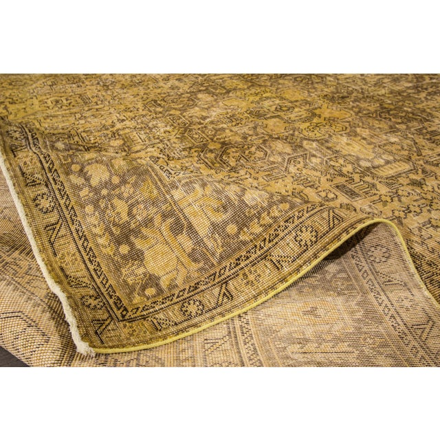 Boho Chic Apadana Yellow Over-Dyed Rug - 9′5″ × 12′8″ For Sale - Image 3 of 7
