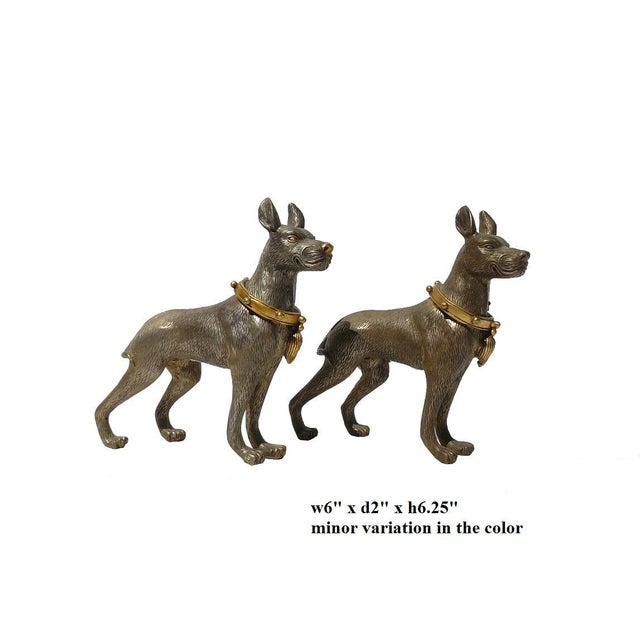 Metal Mini Table Top Dogs Figure - Pair - Image 5 of 5