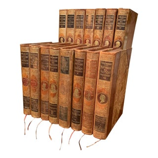 Early 20th Century Complete Leather Bound French History Books - Set of 15 For Sale