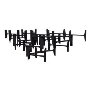 Brutalist Metal Table Sculpture For Sale
