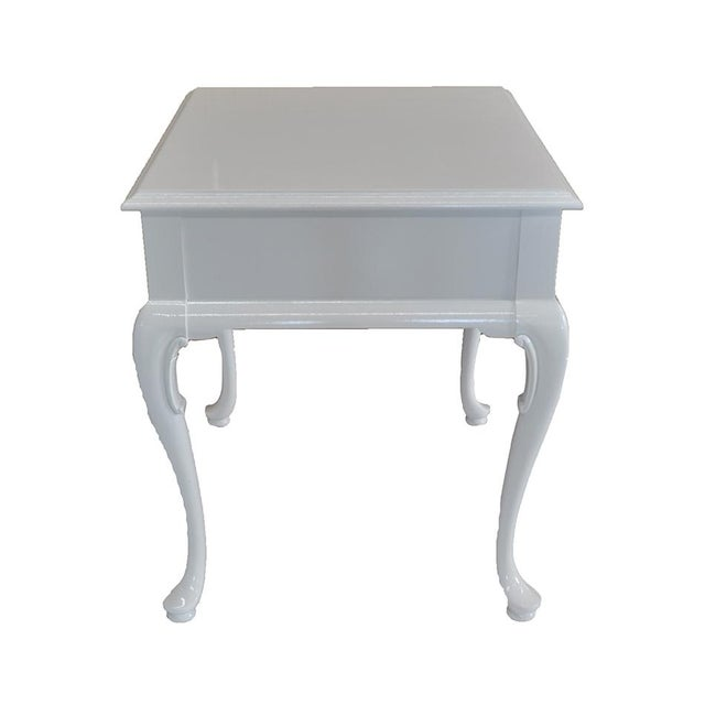 White Chippendale Side Tables -- A Pair - Image 4 of 6