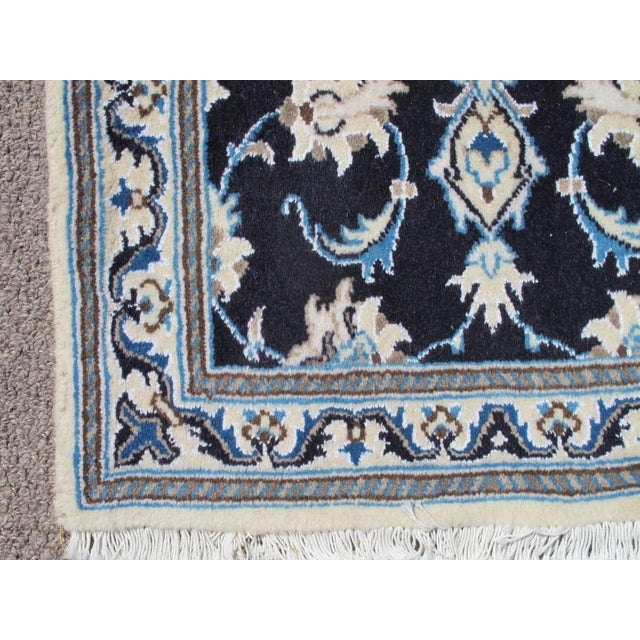 Traditional Persian Nain Wool & Silk Rug - 2' x 3' For Sale - Image 3 of 6