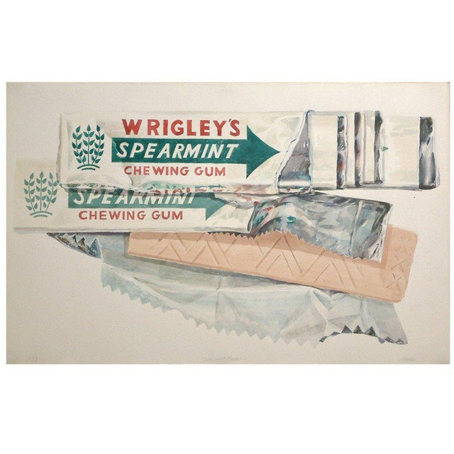 "Don Nice ""Spearmint Gum"" Watercolor on Arches Paper 1973 - Image 6 of 6"