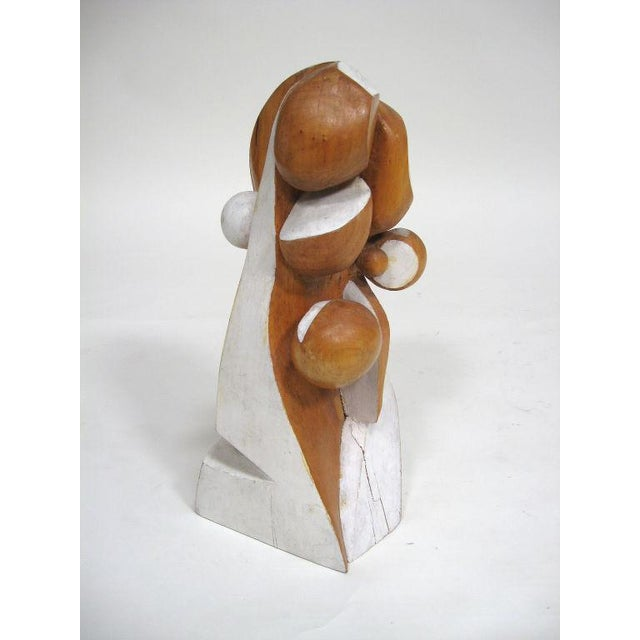 Abstract wood sculpture by Arthur Rossfield - Image 10 of 11
