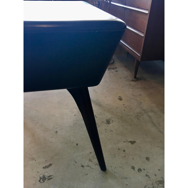 Brown Heywood Wakefield Side Table For Sale - Image 8 of 13