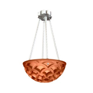 Sirmos Mid-Century Blush Cast Resin Crescent Chandelier For Sale