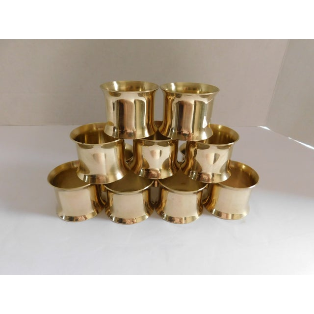 Solid Brass Vintage Napkin Rings - Set of 12 For Sale - Image 13 of 13