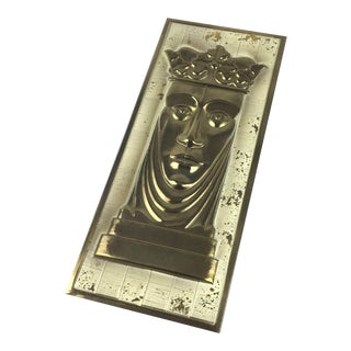 Mid-Century Modern Medieval Metal Wall Art For Sale