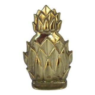 Vintage Virginia Metal Crafters Pineapple Doorstop For Sale