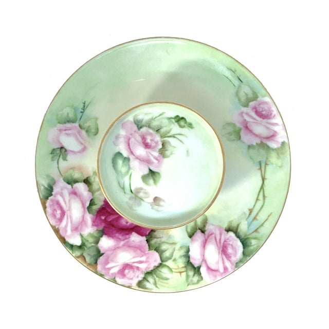 Limoges, France Limoges French Porcelain Tiered Serving Plate For Sale - Image 4 of 11