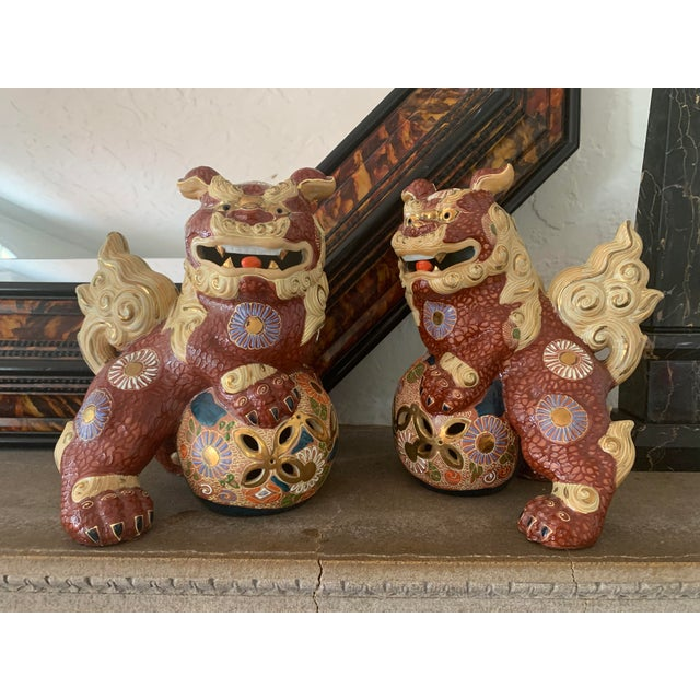 Vintage Asian Antique Foo Dogs - a Pair For Sale - Image 10 of 10