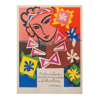 "Henri Matisse ""Madame De Pompadour"" First German Edition Poster For Sale"