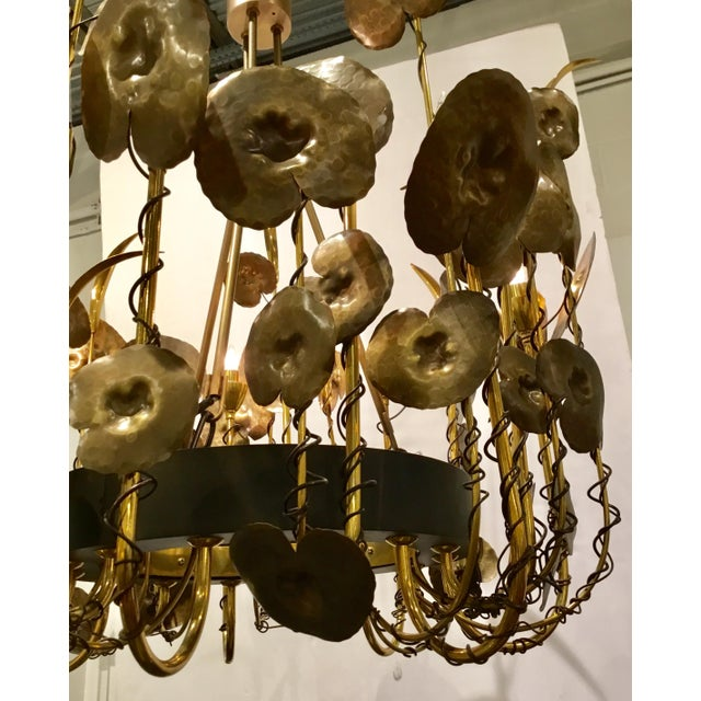 Brutalist Modern Brutalist Style Lily Pad Chandelier By: Studio a Home For Sale - Image 3 of 6