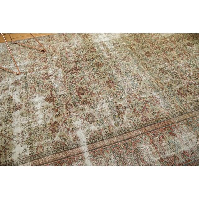 "1930s Vintage Distressed Fragment Mahal Carpet - 7'2"" X 9'6"" For Sale - Image 5 of 12"