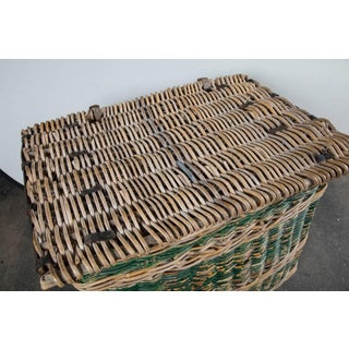 French Woven Rattan Lidded Basket With Handles, Circa 1920s Preview