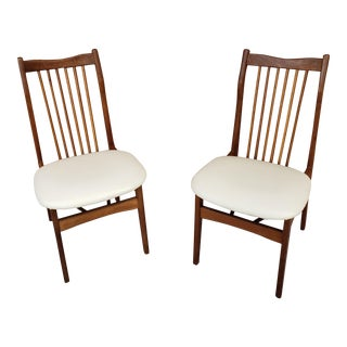 Mid 20th Century Two Mid-Century Dining Chairs by Litor - a Pair For Sale