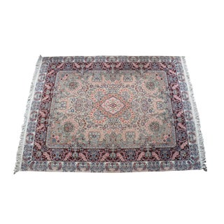 1990s Vintage Wool Oriental Traditional Persian Area Rug- 8′1″ × 10′2″ For Sale