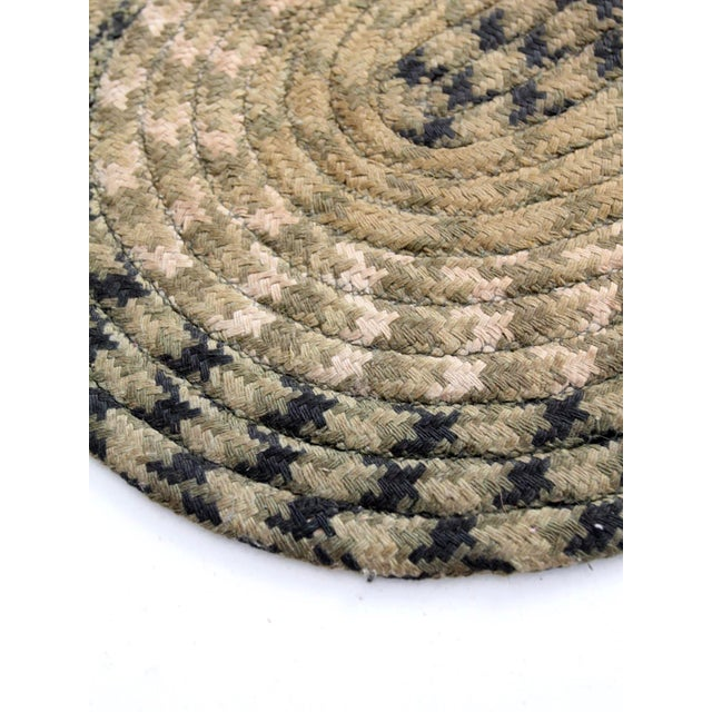 Early 20th Century Vintage Braided Accent Rug For Sale - Image 5 of 7