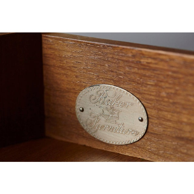 Empire Style Walnut Side Table by Baker Furniture For Sale - Image 10 of 11