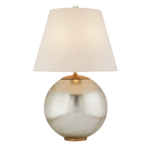 New Circa Lighting Morton Lamps in Burnished Silver Leaf, a Pair For Sale