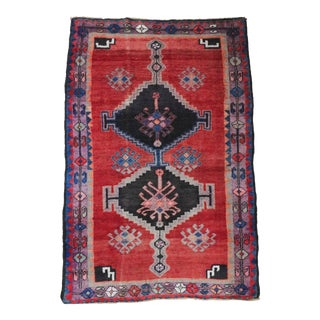 1940s Vintage Persian Rug - 4′1″ × 6′2″ For Sale