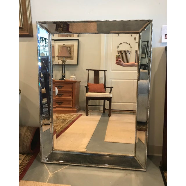Large Restoration Hardware Venetian Beaded Mirror brings light and style into your space. Hangs vertically or...