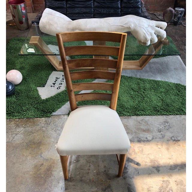 Gio Ponti Ladderback Chairs, Italy, 1940s - a Pair For Sale In Los Angeles - Image 6 of 13