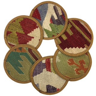 Kilim Coasters Set of 6 | Karakol For Sale