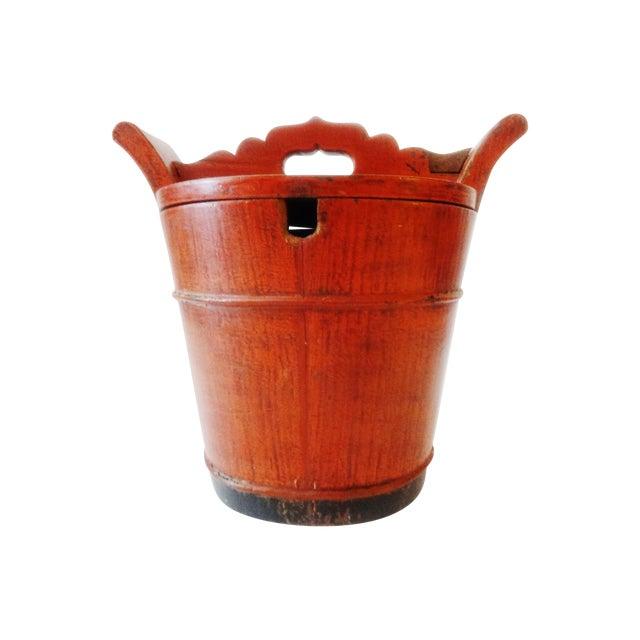 Vintage Chinese Food Carrier Rice Basket - Image 1 of 6