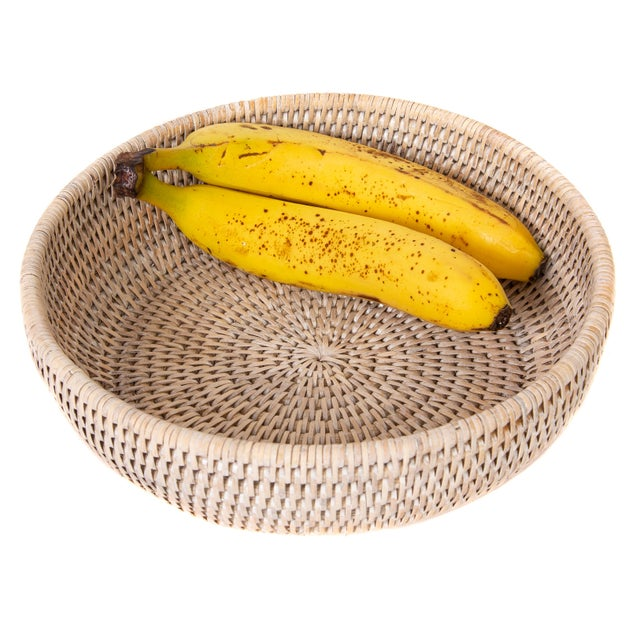 Artifatcs Rattan Bowl For Sale - Image 4 of 6