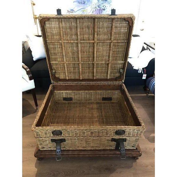 Contemporary Ralph Lauren Home Marseilles Trunk on Stand For Sale - Image 3 of 8