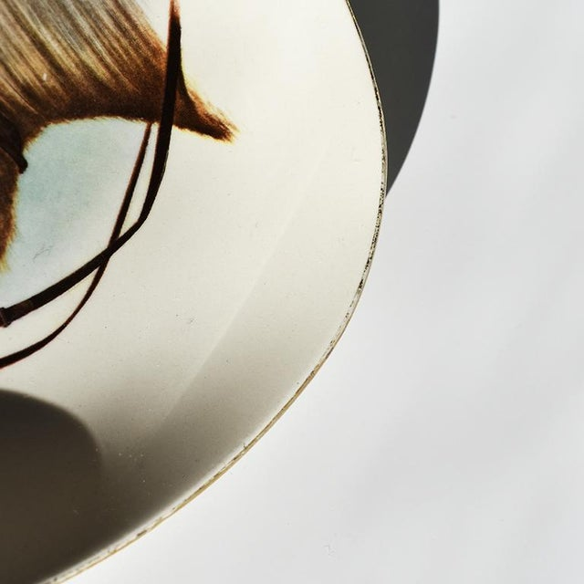 Brown Equestrian Style Ceramic Horse Vide-Poche Decorative Dish or Catch All For Sale - Image 8 of 10