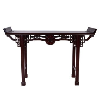 Antique Chinese Carved Rosewood Altar Table For Sale