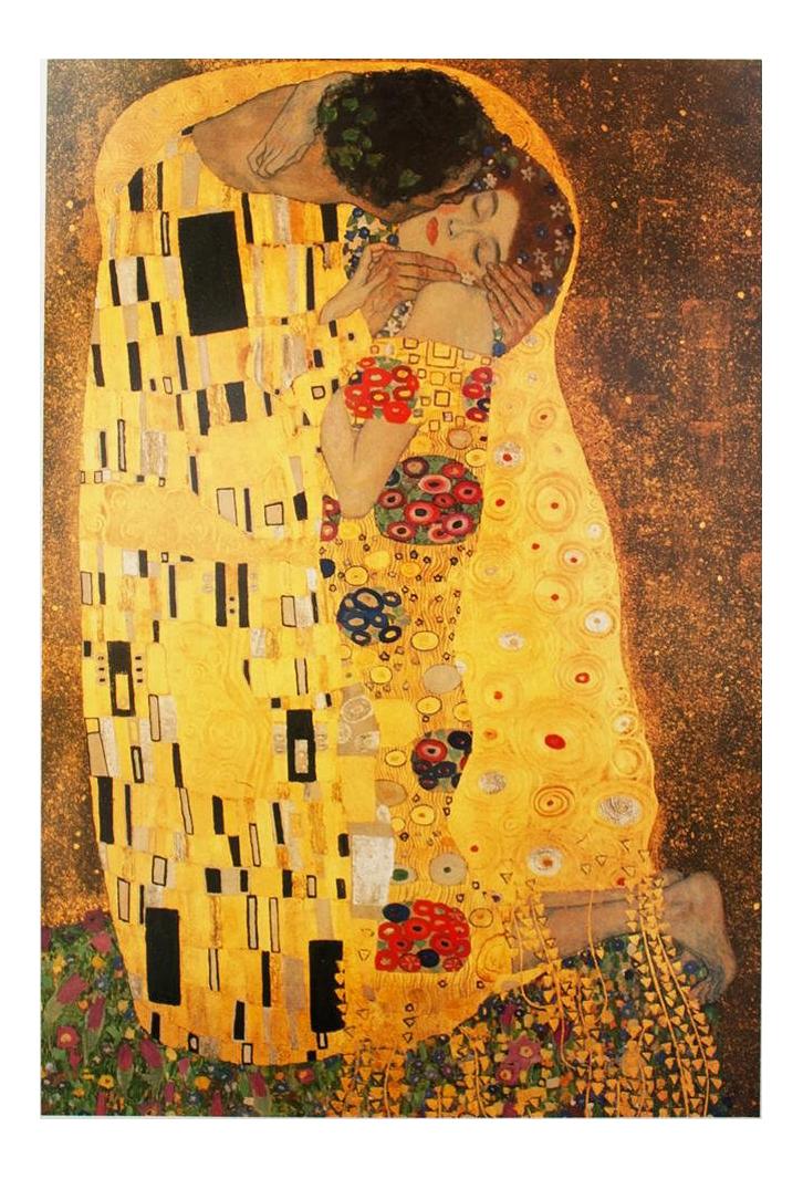 Valentine S Day Special 1994 Gustav Klimt The Kiss Poster Chairish
