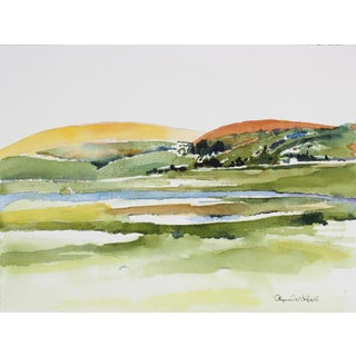 Alysanne McGaffey West Marin, California Landscape in Watercolor, Late 20th Century For Sale