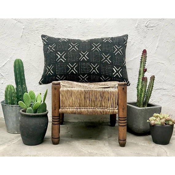 "Boho Chic Mudcloth Pillow Cover - 16"" x 26"" For Sale - Image 3 of 6"