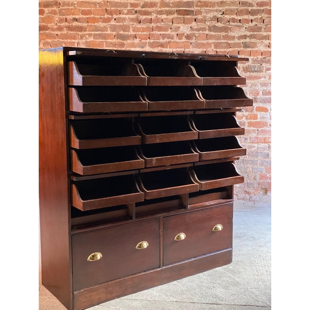 Haberdashery Drapers Shop Display Cabinet Mahogany Loft Style, circa 1940 For Sale - Image 9 of 11